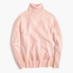 JCREW TURTLENECK PINK WOOL SWEATER SIZE SMALL